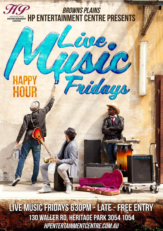 nv design brisbane live music poster