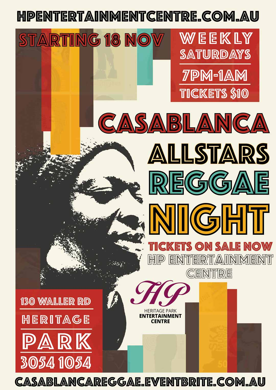 nv design brisbane reggae music poster